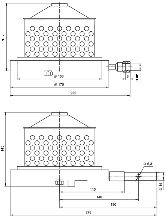Клапан донный ДКП-90/01 А с ручным дублером